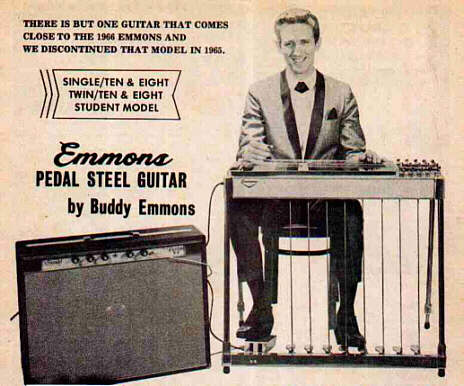 1966 Emmons Guitar Company Ad